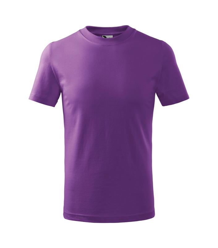 t-shirt dziecięcy basic, nadruk bezpośredni – fioletowy (64)