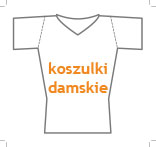 t-shirt damski v-neck slim fit, nadruk bezpośredni – rozmiarówka